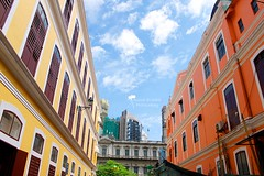[EXPLORED] ( Anoud Abdullah AlHabib) Tags: yellow canon buildings eos all right macau portuguese reserved arquitecture 500d pinck