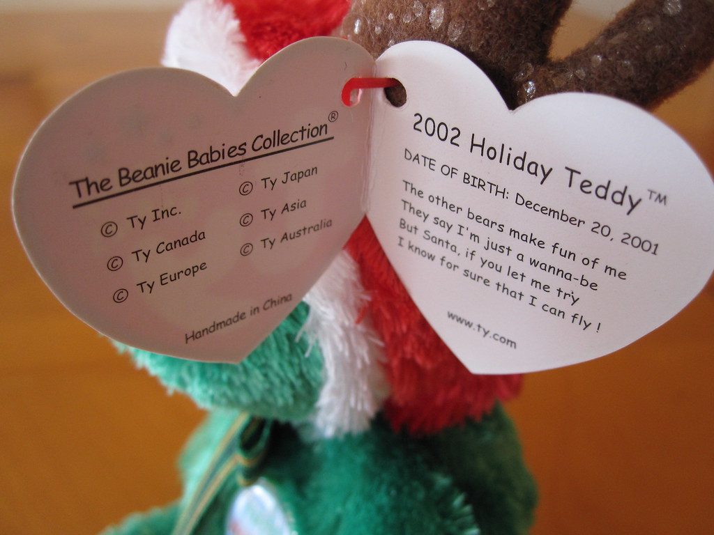 Ty 2002 Holiday Teddy Beanie Baby Hang Tag (jessicagreen0202) Tags   christmas xmas baby bf1ac88fea69