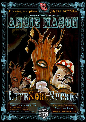 Angie Mason Solo Show Life Sore Spores Promotion
