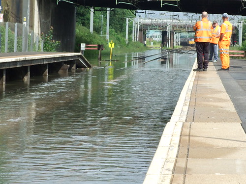 Tame Bridge Station Flooded taken by Sparkes68