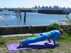 Yoga Pushup (darmorrow) Tags: yoga harbourside