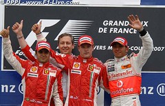 GP Francia - Podio