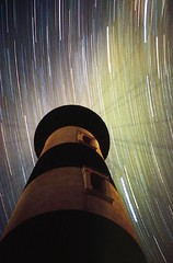 Bodie Island Light With Startrails (icecubephoto - trying to catch up) Tags: lighthouses bodieisland cotcmostinteresting
