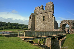 Ogmore Castle.. (welshlady) Tags: castle southwales architecture memorial ruins medieval norman historical bandstand remains soe ogmore captainscott welshlady welshcastle ogmorevale theworldthroughmyeyes ogmorecastle canoneos400d shieldofexcellence riverewenny welshflickrcymru