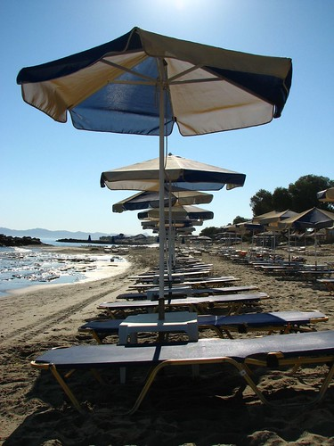 The beach at Platanias