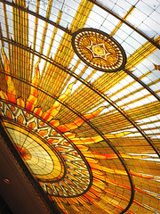 Sunburst (dcoffee) Tags: ny window glass architecture buffalo cityhall mosaic skylight stainedglass sunburst buffalony summerfestival buffalonewyork