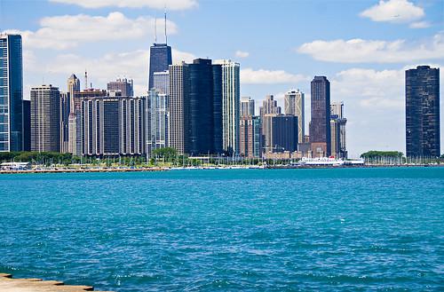 Lake Michigan and Skyline