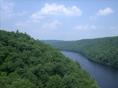 clarion river bridge (grendelkhan) Tags: blue sky green forest river hill wikipedia clarionriver