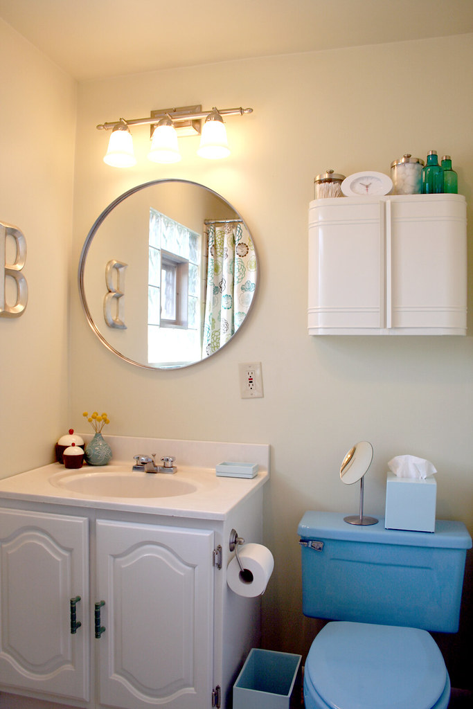 Blue Bathroom, Finished! | Making it Lovely