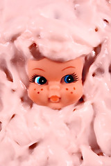 Yo-Gertie (boopsie.daisy) Tags: food silly cute girl strange face yellow fun weird yummy crazy funny doll peekaboo snack peek freckles yogurt gertrude quirky gertie dollhead kooky mywinners abigfave strawberryyogurt diamondclassphotographer 1on1colorfulphotooftheweek 1on1colorfulphotooftheweekaugust2007