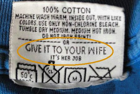 A clothing tag