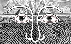 on the beach (Apeneck_Fletcher) Tags: blackandwhite illustration weird fantastic artist different drawing picture eerie special fantasy illustrator unusual extraordinary inkdrawing fearless imaginative ballpoint blackink metaphysical hobbyist dreamtime americanart penandinkdrawings miamibeachflorida kevinwilliams apeneckfletcher kevinmichaelwilliams madeindade blackandwhitedrawings penandinksketches fantasyillustrations moonrivers fantasydrawings penandinkillustrations fantasysketches kmwms universaldreamer