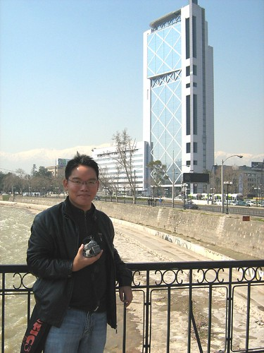 Me on a bridge near Baquedano Plaza