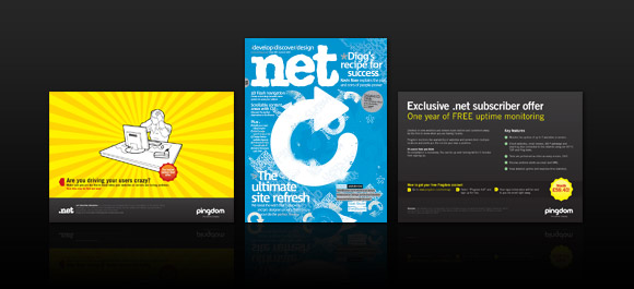 .net mag special subscription offer... Pingdom!