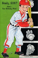 a sampler of things Neat 60s Baseball Birthday Cards