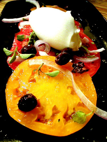 Heirloom tomato, feta mousse