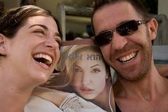 הוא אבא (Shemer) Tags: friends portrait smile laughing newspaper laughter roni inon