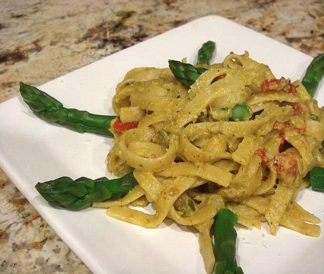 asparagus-pesto pasta