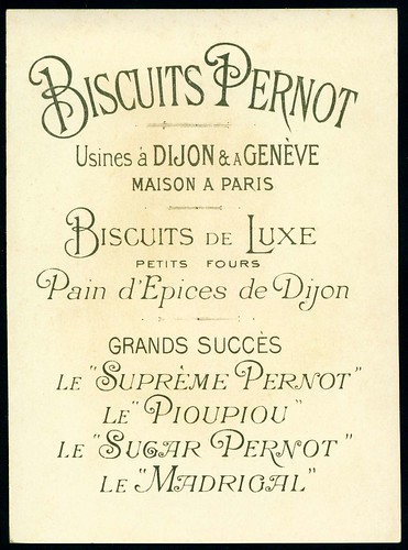 Biscuits Pernot - Beauties, Back by cigcardpix