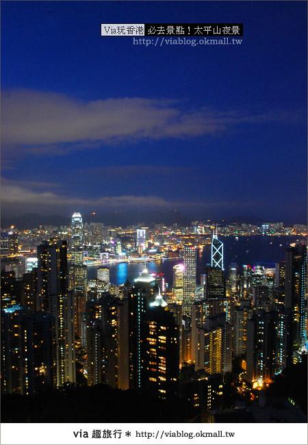 【香港自由行】必推!內有百萬夜景~香港太平山夜景27