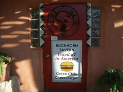 Buckhorn Tavern's  Door (jimmywayne) Tags: food newmexico sanantonio roadtrip foodnetwork greenchile socorrocounty buckhorntavern chileburger