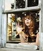(yyellowbird) Tags: ohio sun house reflection abandoned window glass girl gold glare cari