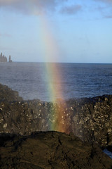 Spraybow (JDurston2009) Tags: coast iceland rainbow rocks waves dyrholaey spraybow