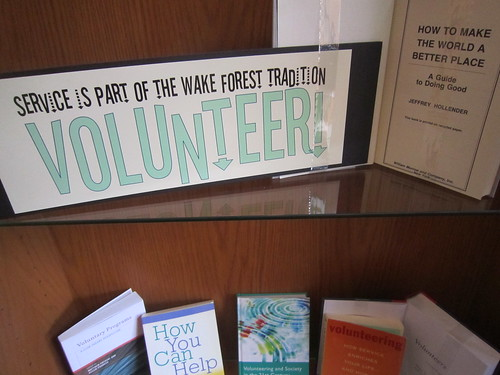 Volunteer at Wake Forest Exhibit