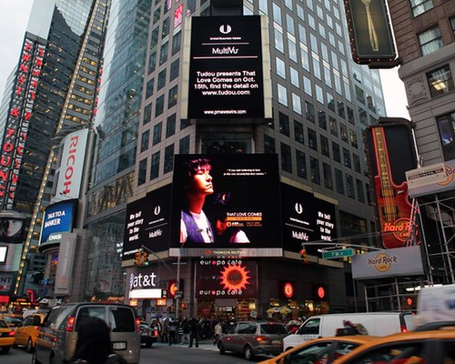 Tudou's That Love Comes on Times Square in New York