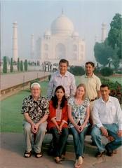 The SIMS team at the Taj Mahal