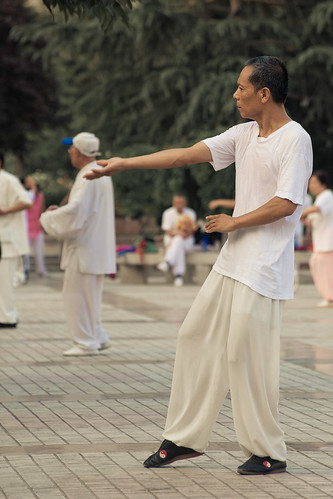 Tai Chi in Weinan City Square