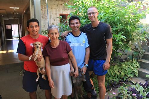 Casa de Ciclistas, Cali with Miller Hernan and his family