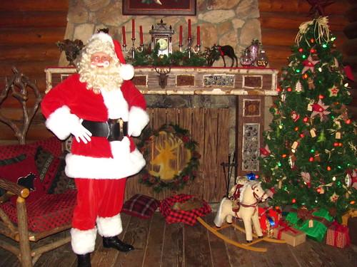 Meeting Santa at Santa's Reindeer Roundup at Big Thunder Ranch