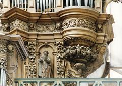 Aire sur la Lys, Pas-de-Calais, Collégiale Saint Pierre, organ, detail