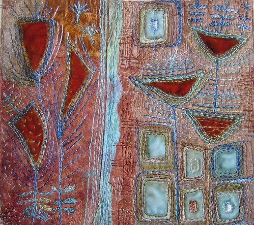 Textile Art. Inspired by 50s fabrics