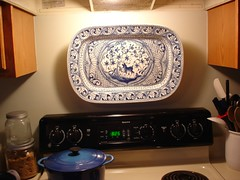 big platter over stove