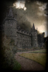 Foreboding (vidalia_11) Tags: castle photomanipulation photoshop grunge experiment montage morguefile photoshoproyalty