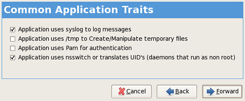 common application traits screenshot