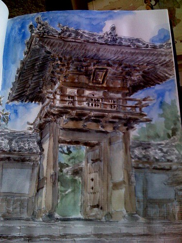 sketchcrawl 15 japanese gate