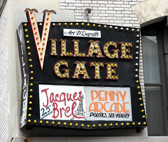NYC: Village Gate Sign (Professor Bop) Tags: nyc newyorkcity manhattan greenwichvillage villagegate bleeckerstreet newyorkmagazine canonpowershots3is professorbop