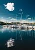 Mikołajki, port (frischmilch) Tags: blue sky cloud lake water port mirror harbour poland symmetry gradient mikołajki masuria warminskomazurskie gettyvacation2010 sailingmasuria