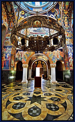 The church of St. George - Oplenac, Serbia (Katarina 2353) Tags: light color film church saint photography george nikon flickr shadows cross image mosaic serbia religion icon mausoleum dome sacred marble orthodox fresco sv discover crkva balkan srbija topola arhitecture oplenac pravoslavlje  umadija  dynastykaradordevic dynastykaradjordjevic karaorevi katarinastefanovic katarinastefanovicphoto katarina2353 ora