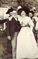 A happy occasion (lovedaylemon) Tags: wedding woman man smile vintage found kitten image joy happiness edwardian