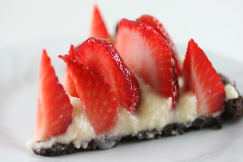 Thin Mint Strawberry Mascarpone Pi