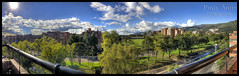 Panorama (Polly Anne) Tags: city trees sky sun colors clouds colombia bogota 127 panoramica hdr