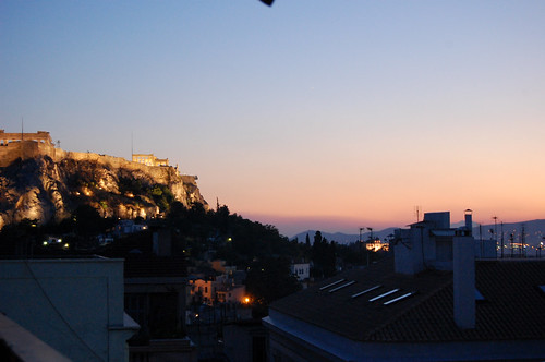 greece - athens - balcony view