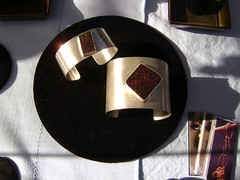 Ammolite Cuffs (beaucoup de bijoux) Tags: silver handmade jewelry rare gemstone ammolite