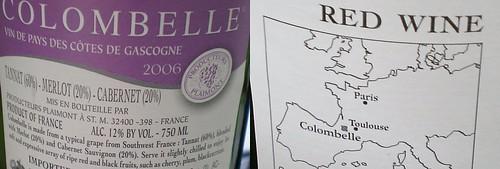 Back Label of Colombelle Red