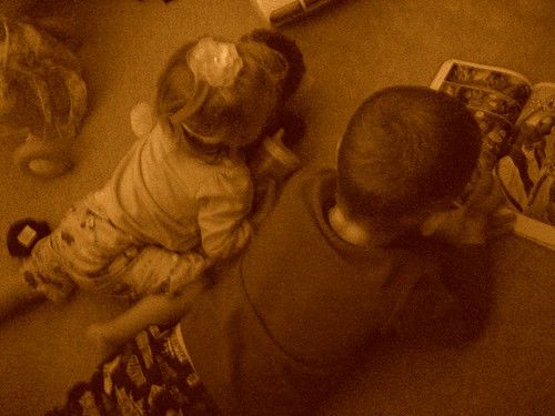 Henry and Evie Reading