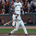 Buster Posey Starts His Swing - 2010 NLCS Game 4 - see the ball